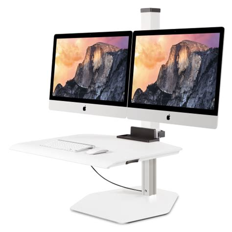 apple imac vesa dual sit stand cheyenne office furniture