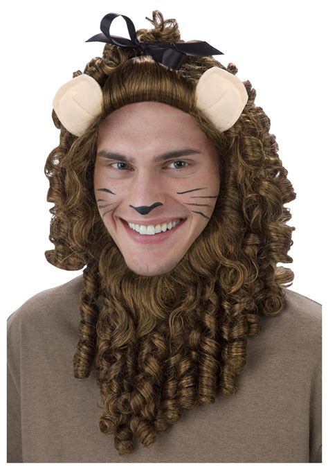 cowardly lion halloween costume cowardly lion wig wizard of oz wig accessories