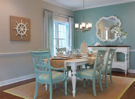 blue accent wall dining room dining room transitional with