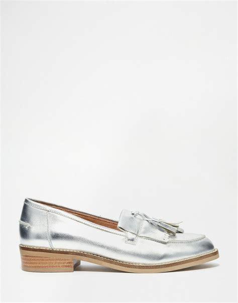 steve madden loafer flats steve madden meela silver tassel flat loafer shoes a