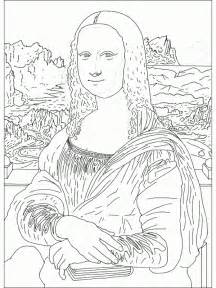 download coloring pages mona lisa coloring page mona