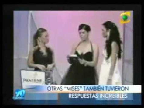 Tas Avi Js respuestas tontas de las candidatas al miss honduras co doovi