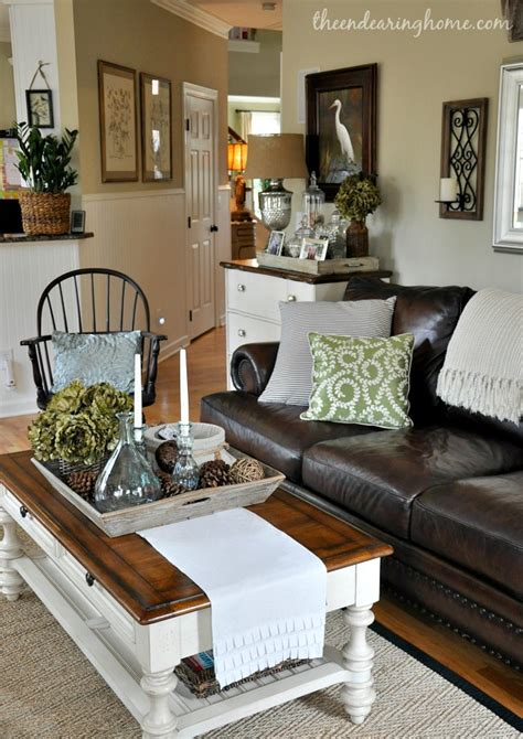 leather couch decor savvy southern style my favorite room the endearing home
