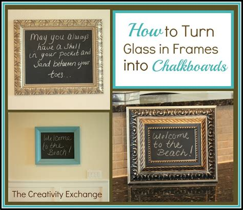 diy chalkboard from picture frame how to turn glass in a frame into a chalkboard