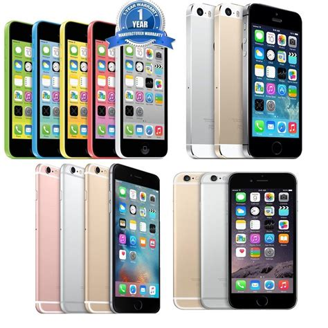 apple iphone 5c 5s 6 6s 6 plus 6s plus 8 16 32 64 128gb ios unlocked smartphone ebay
