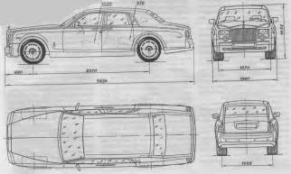 Rolls Royce Phantom Dimensions Tutorials3d Blueprints Rolls Royce Phantom Ii
