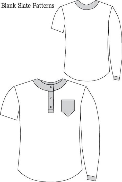 sewing pattern henley shirt hipster henley sewing pattern blank slate patterns