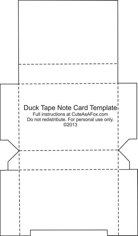 Duck Tape 174 Flash Card Holder Note Card Template