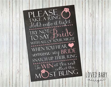 free printable wedding shower signs bridal shower game sign instant download 8x10