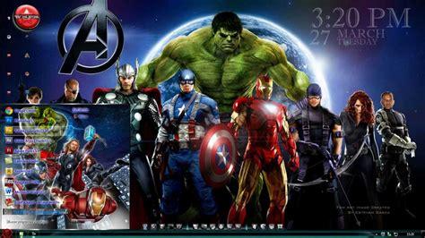 theme for windows 7 avengers tema los vengadores para windows 7 theme the avengers
