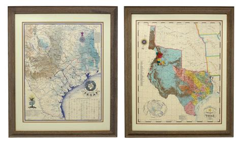 framed texas maps 2 framed reproduction texas revolution maps april estates auction auction gallery