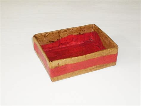 How To Make A Paper Mache Box - paper mache box catchall 183 how to make a paper box