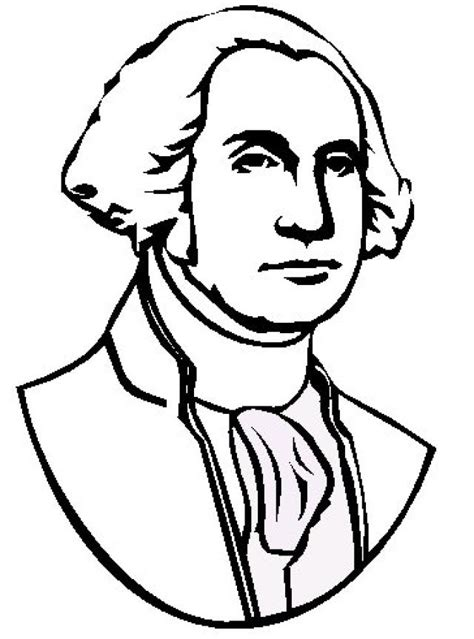 george washington coloring page george washington coloring book page