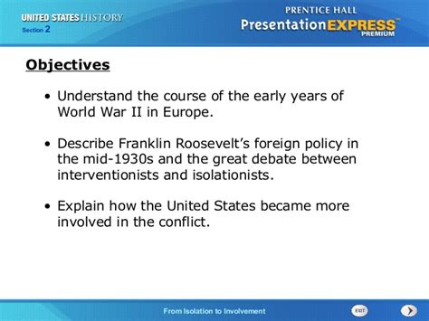 chapter 16 section 2 war in europe united states history ch 14 section 2 notes