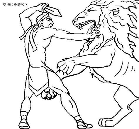 imagenes de leones y dragones disegno di gladiatore contro un leone da colorare