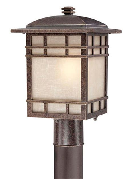 Menards Lighting Outdoor Patriot Lighting 174 Mission 15 Quot Imperial Bronze 1 Light Outdoor Post Light At Menards 174