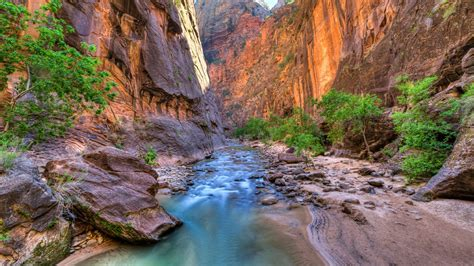 The Narrows In Zion National Park Wallpaper   Wallpaper
