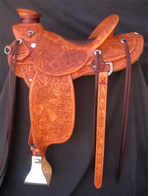Handmade Western Saddles - custom tooled saddles by kent frecker frecker s