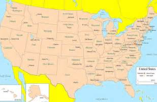 United States Map And Capitals by Large Map Of United States With Capitals Bing Images