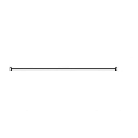 straight shower curtain rail akw shower mm 24018 white