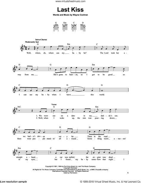 last kiss tutorial guitar jam last kiss sheet music for guitar solo chords