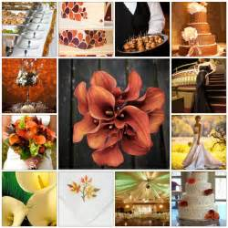 autumn wedding colors fall wedding themes cherry