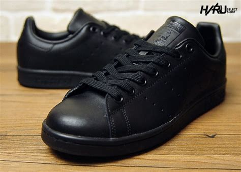 Adidas Stan Smith All Black adidas stan smith trainers mens leather all black