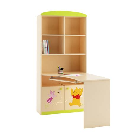 winnie the pooh friends bookcase desk combination