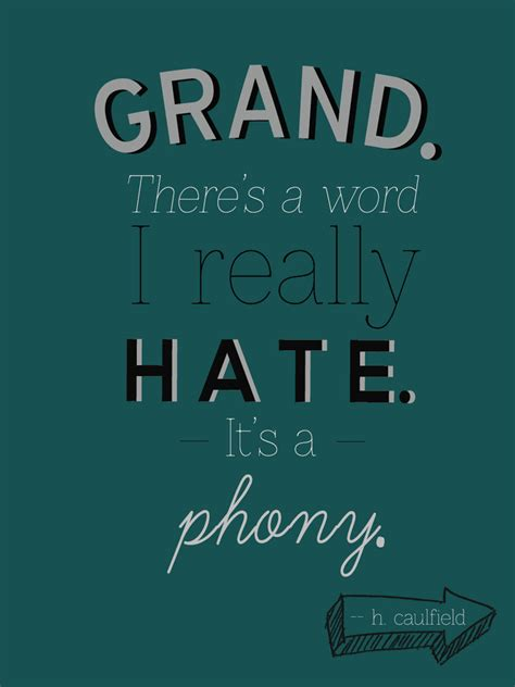 phony theme catcher in the rye holden caulfield catcher in the rye quotes quotesgram