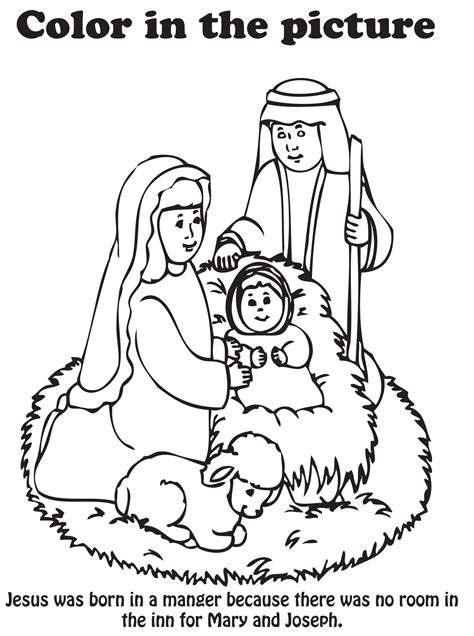 Nativity Scene Coloring Page For Preschoolers Coloring Pages Preschool Nativity Coloring Pages