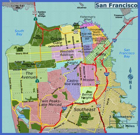 san francisco gallery map san francisco map toursmaps