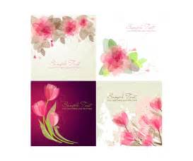 vector greeting cards with flowers floral card templates tulip vector graphics and floral
