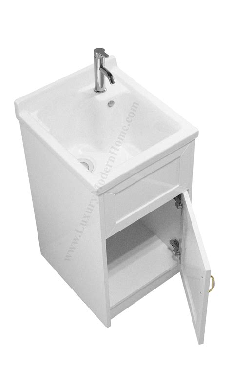 18 quot small white laundry utility sink