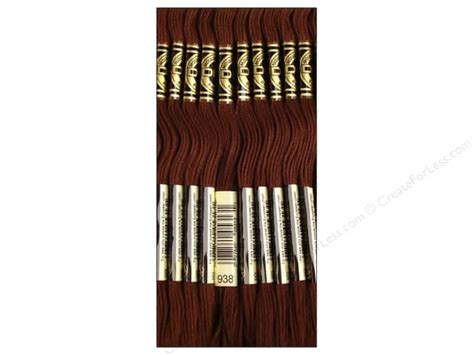 Embroidery Brown Coffee dmc six strand embroidery floss 938 ultra light coffee brown 12 skeins createforless