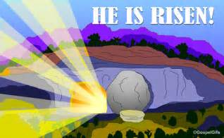 He is risen free christian graphic