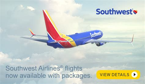southwest airlines flights now available with funjet packages