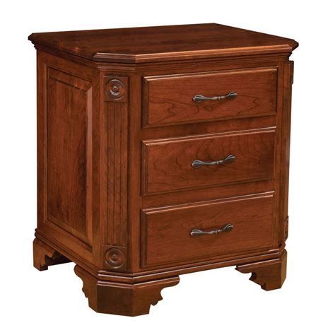 Amish Kitchen Furniture Georgian Three Drawer Night Stand Amish Crafted Furniture