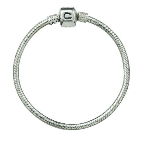 buy chamilia ba silver snap charm bracelet size ba 6 size