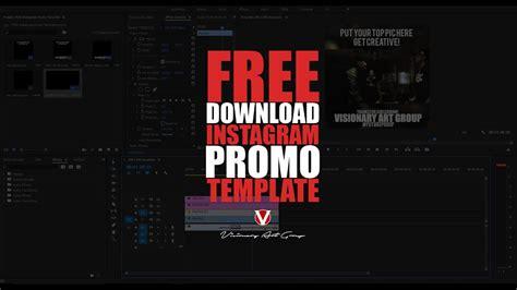 Free Template Instagram Promo Video File Youtube Instagram Promo Template