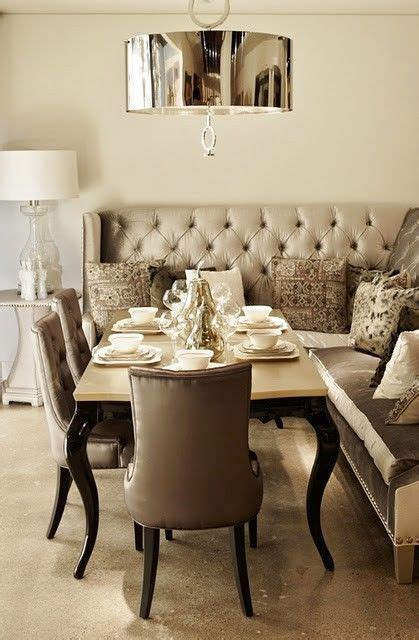 Dining Room Banquette Banquette Nook Dining Room Breakfast Room Tufted Grey Gray Interior Design Interiors
