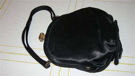 Silk Bow Evening Bag By Anusha by Black Satin Evening Bag With Bow B34 From