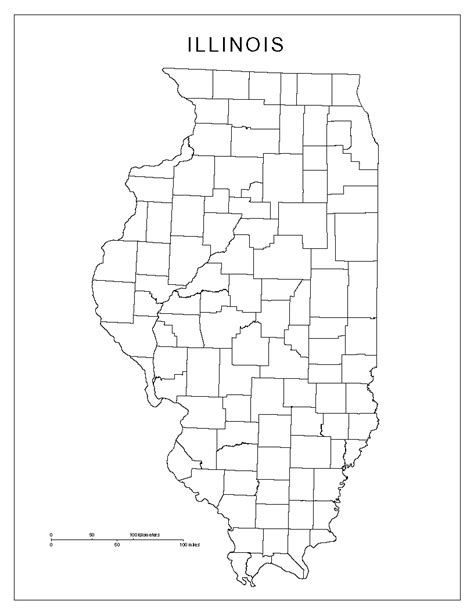 coloring page map of illinois illinois blank map
