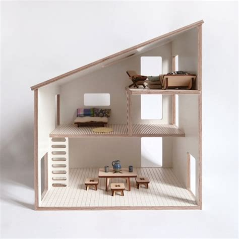 modern dollhouse modern wood dollhouse milkywood handmade dollhouse