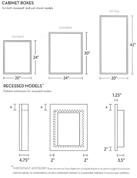 standard recessed medicine cabinet size nantucket medicine cabinet artisan crafted home