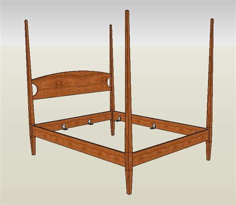 4 post bed four poster bed handmade in cherry maple or mahogany