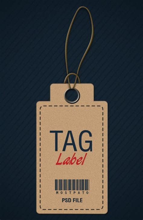 clothing hang tag template free brown clothing hang tag psd titanui