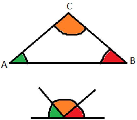 angoli interni di un triangolo propriet 224 degli angoli di un triangolo