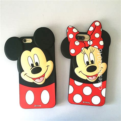 Softcase Iphone 6 Plus 6s Plus Mickey disney bow minnie mickey silicone soft cover for iphone 7 6 6s plus ebay