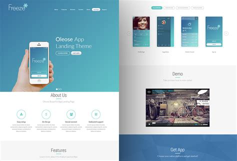 bootstrap themes oleose oleose free app bootstrap landing page graphicsfuel