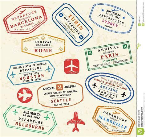 Visa Gift Card International Travel - travel sts stock photos image 35412263